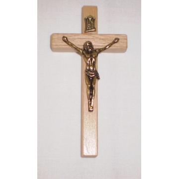 Cruce de perete, culoare lemn natur, 10 cm