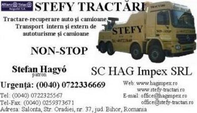 Tractare camioane de la S.c. Hag Impex S.r.l.