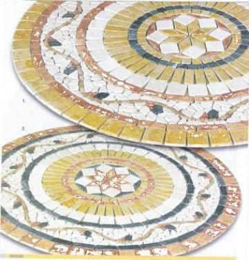 Ornamente florale piatra naturala