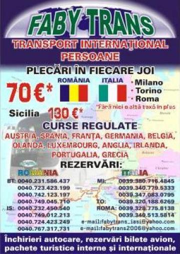 Inchiriere autocar / microbuz intern si international de la Faby Trans