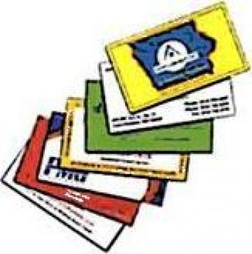 Carti de vizita plastifiate lucios de la Fast Pc & Net Srl