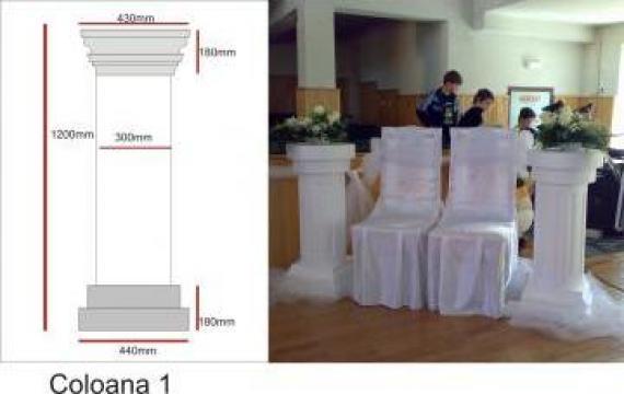 Coloana polistiren pentru evenimente (nunti)