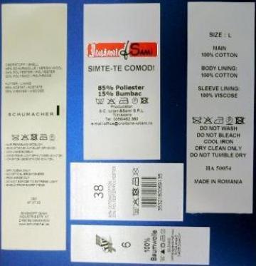 Etichete satin