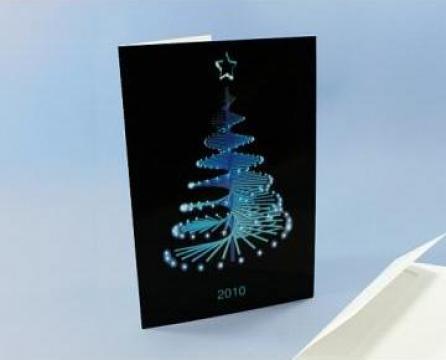 Felicitare de iarna cu design din hartie cartonata de la Soya Srl