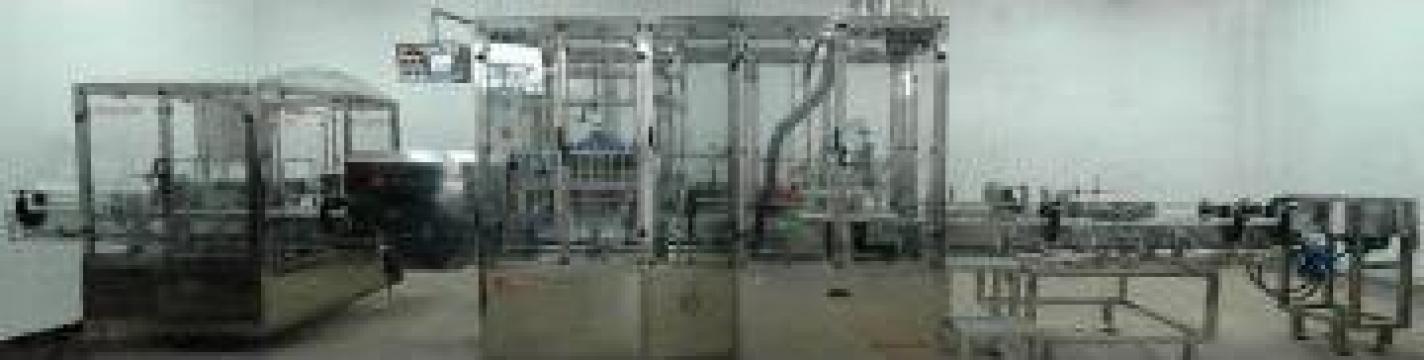 Linie de imbuteliere lichide acidolactice la pet 0,2 - 2 L