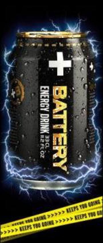 Energizant Battery Energy Drink de la Exspania