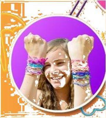 Bratari multicolore Silly bands de la Gizmo Land