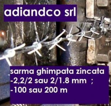 Sarma ghimpata zincata 1,8mm, 100 m