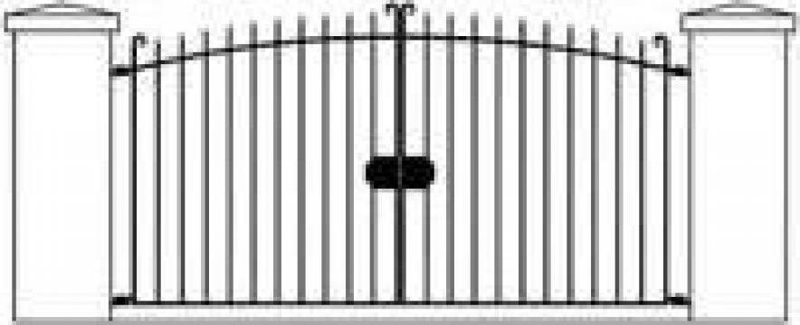 Poarta din teava rectangulara