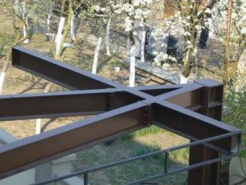 Structura metalica copertina si reclama de la Sc Grimet Construct Srl