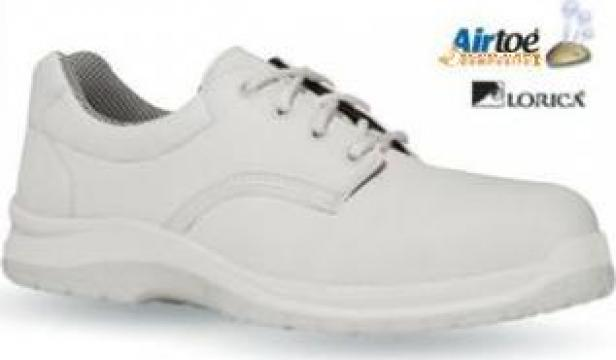Pantofi albi cu siret Rebound S2 SRC