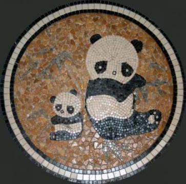 Medalion Travertin Panda 1x75x75 cm de la Geo & Vlad Com Srl