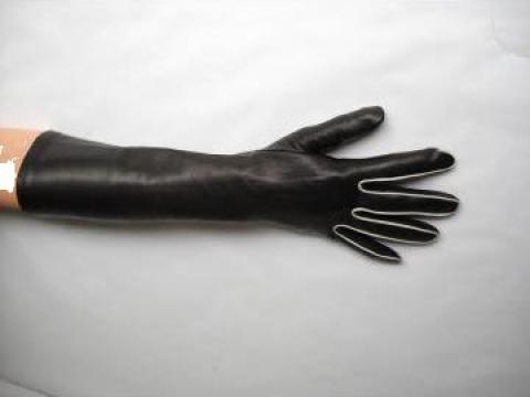 Manusi dame din piele naturala lungi de la Ilimpex
