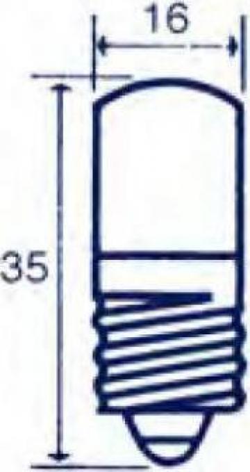 Bec indicator Edison E14, 24V/30V, 3W / 5W de la Emco Star Srl