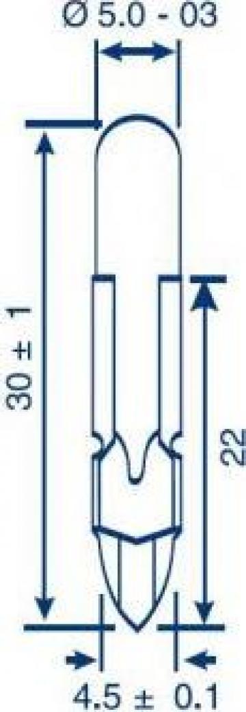 Bec telefonic T5.5, 24V, 40 mA de la Emco Star Srl