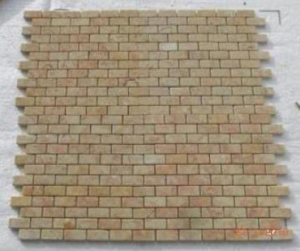 Mozaic marmura Anatolian Rosalia Tumbled Brick 1x2.3x4.8 cm de la Geo & Vlad Com Srl