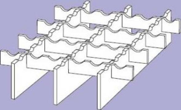 Gratare metalice zincate P