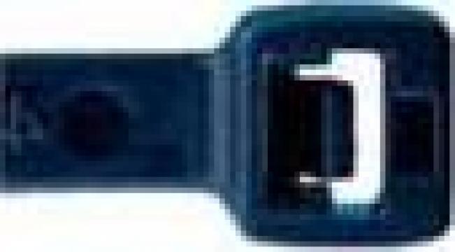 Coliere plastic negru pentru cabluri, prindere cablaje