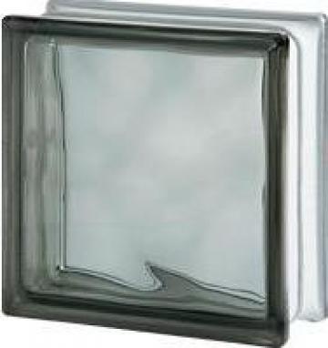 Caramida de sticla colorata in masa Gri de la Geo & Vlad Com Srl