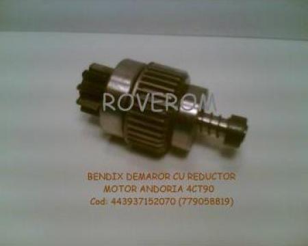 Bendix z=9, demaror cu reductor Andoria 4CT90, Gazelle, Aro de la Roverom Srl