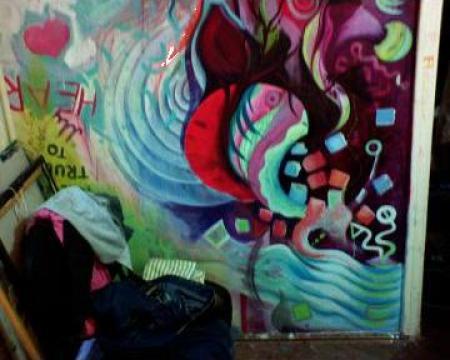 Pictura pe pereti, pictura murala moderna de la Adrenocrom