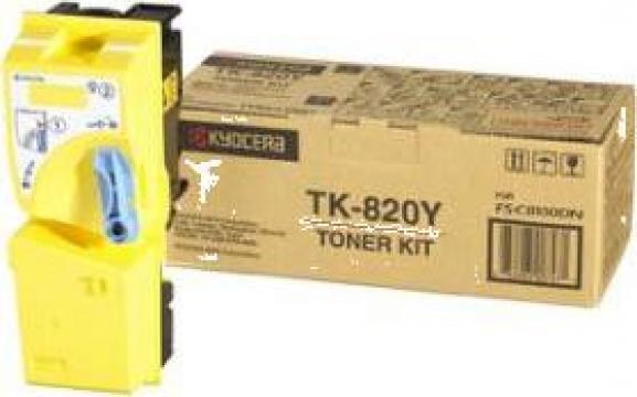 Cartus Imprimanta Laser Original KYOCERA TK-820Y de la Green Toner
