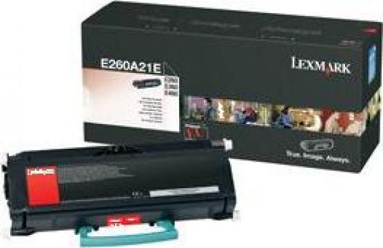Cartus Imprimanta Laser Original LEXMARK E260A21E de la Green Toner