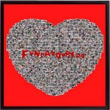 Cadou Colaj din poze in forma de inima de la Fun cadouri.ro