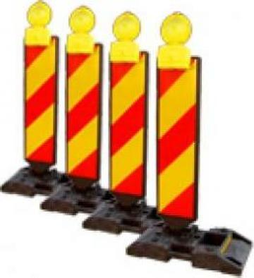 Baliza directionala PVC cu suport cauciuc de la Sig Eurotrafic Srl