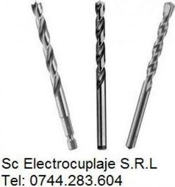Burghiu elicoidal scurt cu coada cilindrica pentru gaurit de la Electrofrane