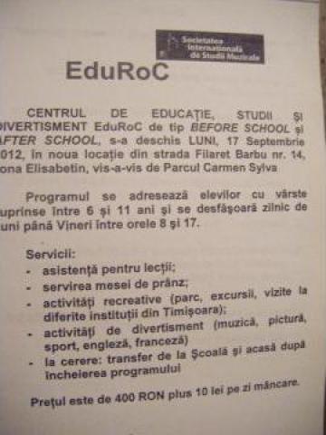 Servicii educationale - After school EduRoc