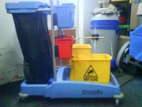 Carucior cu galeata si storcator si sac pentru murdarie de la Tehnic Clean System