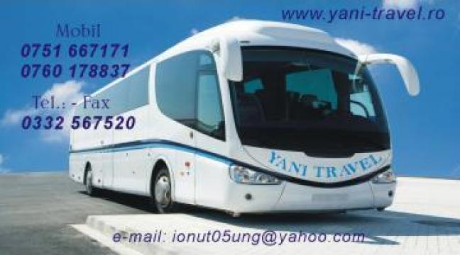 Transport persoane curse regulate Sighisoara-Italia de la Yani Travel SRL