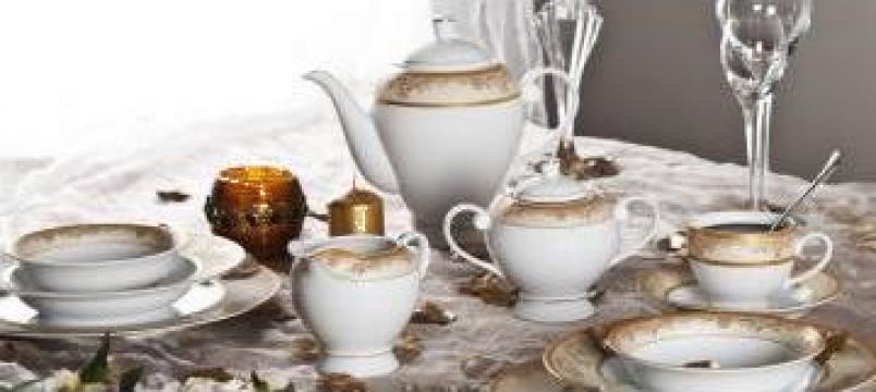 Serviciu masa portelan 32 piese de la Porcelain Manufactures Srl