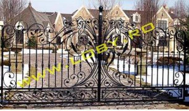 Porti din fier forjat Baroc de la Loby Design