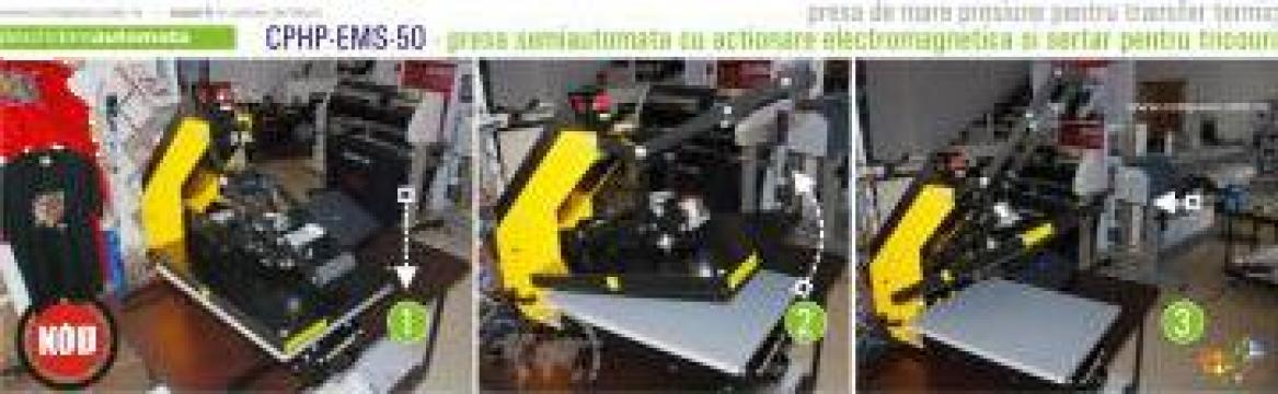 Presa automata cu sertar pt transfer termic tricouri 50 cm de la Compass Srl
