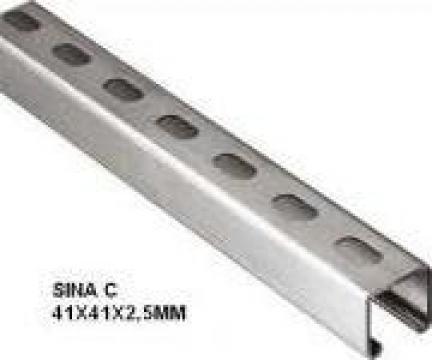 Sina inox C 41x41x2,5 mm
