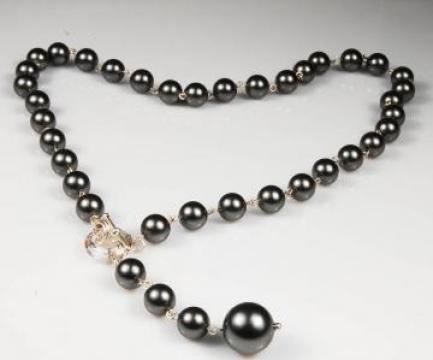 Colier perle si cristale Solitaire de la Ravisant