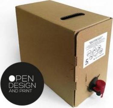 Cutie ambalare suc si vin bag in box 5 litri de la Open Design&Print
