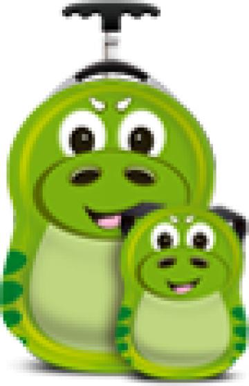 Ghiozdan si valiza copii P-Rex Dinosaur, Cuties&Pals de la Stiki Concept Srl