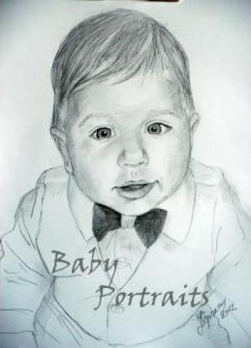 Portret alb negru 1 persoana A5 de la Baby Portraits - Portrete La Comanda Dupa Fotografie