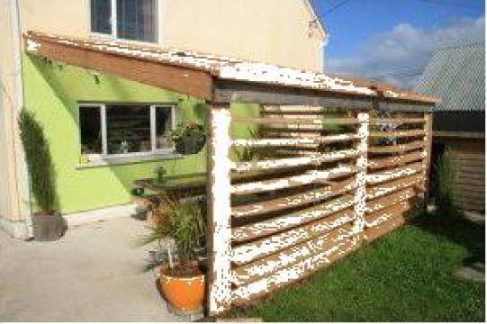 Copertine lemn pentru terase si gradini