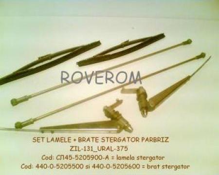 Set lamele + brate stergator parbriz ZIL-130, 131, URAL-375