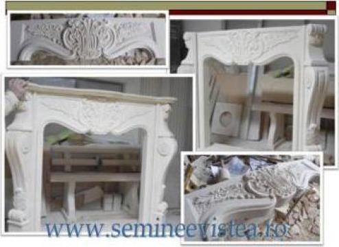 Semineu clasic sculptat manual din piatra de la Albi Vistea Srl