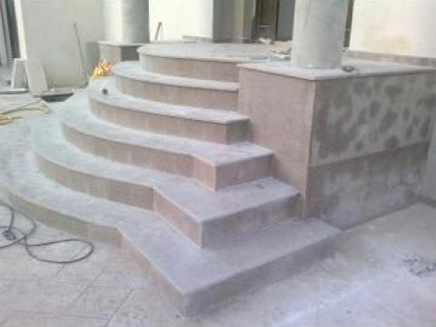 Trepte Semirotunde Din Granit Bucuresti Hexi Domino