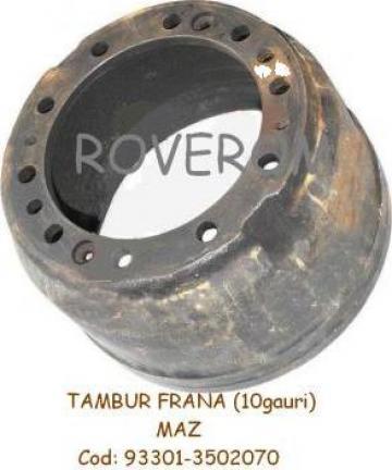 Tambur frana (10 gauri) remorca Maz de la Roverom Srl