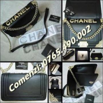 Geanta dama piele naturala neagra Chanel Large Boy