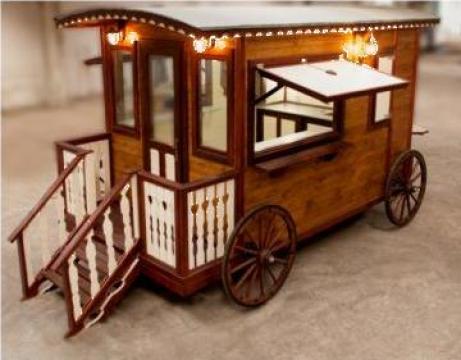Rulota caruta fast food Western Wagon