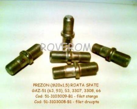 Prezon (M20x1,5mm) roata spate GAZ-3307, GAZ-63, GAZ-66