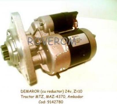 Demaror (24V, Z=10) cu reductor, tractor MTZ, Amkodor